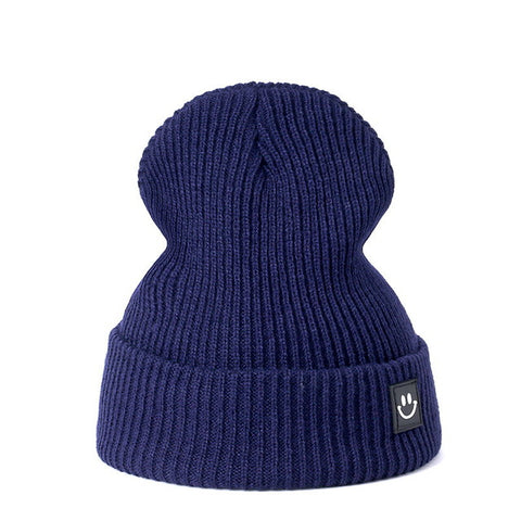 Winter Knitted Unisex Hat Cotton Beanie