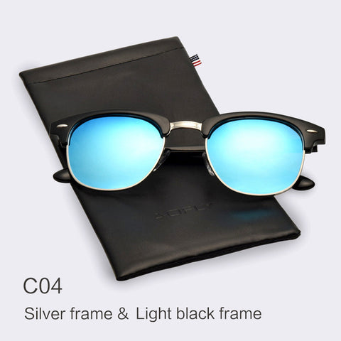 Classic Half Metal Polarized Sunglasses Men Women Brand Designer Glasses Mirror Sun Glasses Fashion