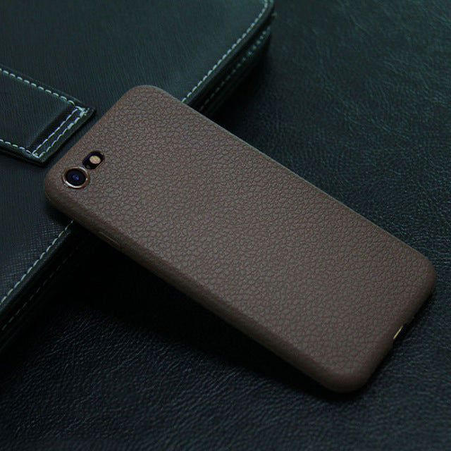 Leather Phone Cases for iPhone 7 7 Plus 6 6s Luxury Style Soft Covers Back Case for iPhone7 7Plus Phone Back Shell