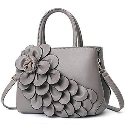 Image of Gorgeous Floral Leather Handbag or Purse  with Shoulder or Crossbody strap
