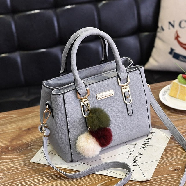 Luxury Handbag with decorative fur