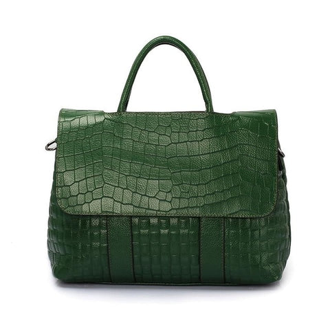 Image of Crocodile Alligator Textured Leather Handbags
