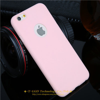 Candy Colors Soft TPU Silicon Phone Cases For iPhone 6 6s 5 5s SE 7 7 Plus Coque Capa
