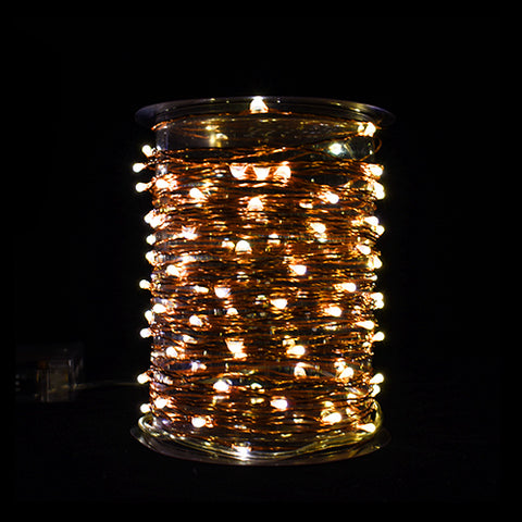 Image of Copper LED wire String Lites AA Battery Operated 33FT 10M 100 led  Decorations LED Copper Wire String Fairy Lights Lamps