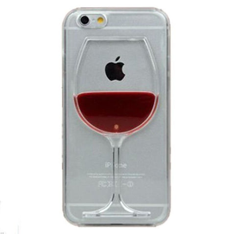 Image of Red Wine Cup Liquid Transparent Case For Apple iPhone 7 7 plus 6 6S plus 5 5S 5C 4 4S Phone Cases Back Covers