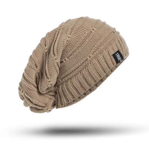 True  Knitted Winter Hat Solid Color Unisex Beanie