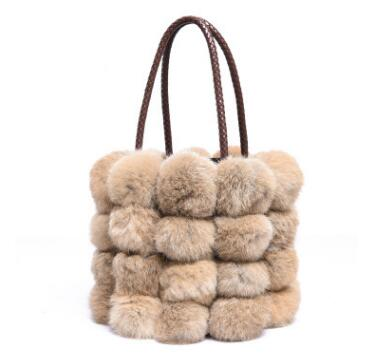 Rabbit Fur Handbag