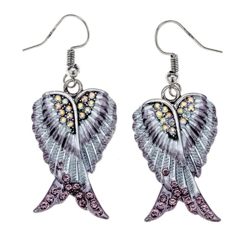 Image of You are My Angel wings dangle drop earrings