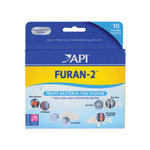 Api Furan-2 for Fresh & Salt water (10 powder packets)
