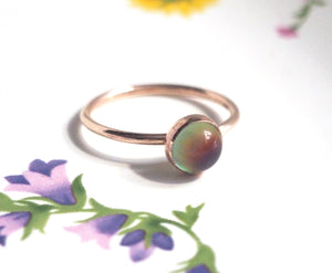 Small Mood Ring in Rose Gold