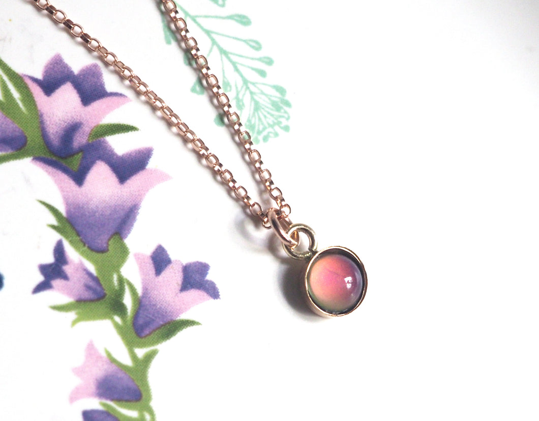 Small Mood Necklace in Rose Gold