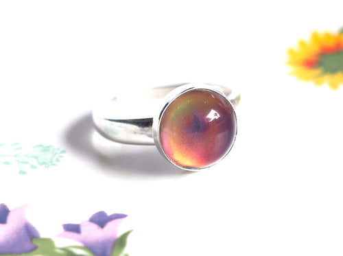 Medium Adjustable Sterling Silver Mood Ring