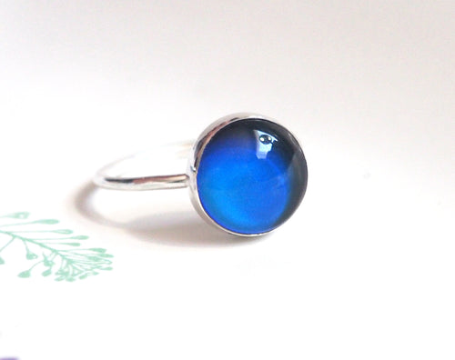 Medium Mood Ring in Sterling Silver