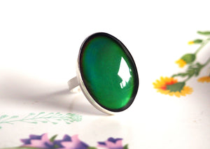 Large Sterling Silver Mood Ring