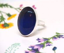 Large Adjustable Sterling Silver Mood Ring