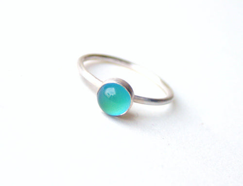 Sterling Silver Small Mood Ring
