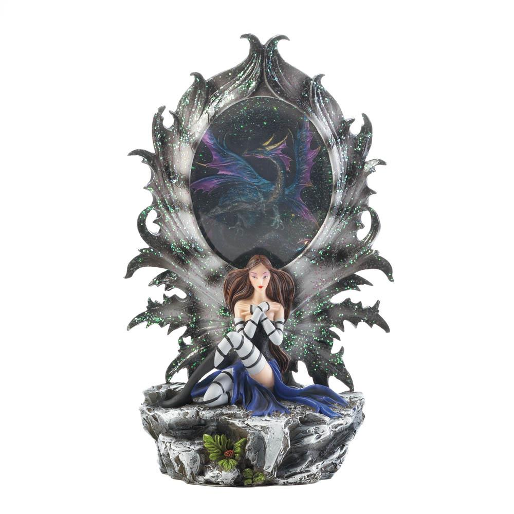 Fairy Dragon Lighted Statue