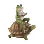 Frog and Turtle Solar Figurine