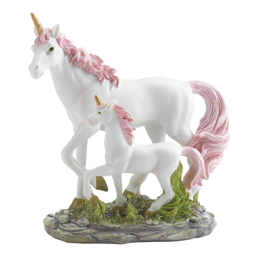 Mom And Baby Unicorn Statues
