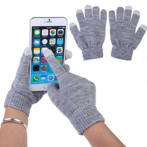 Warm Capacitive Knit Gloves for Touch Screen