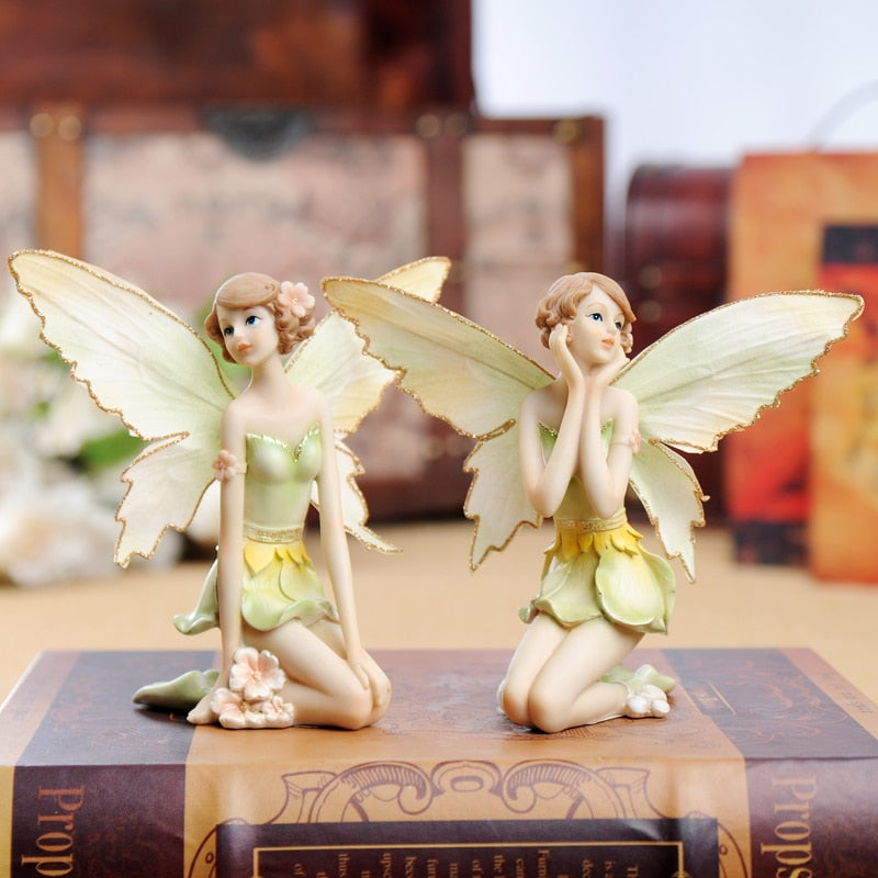 Flower Fairy Miniature Statues