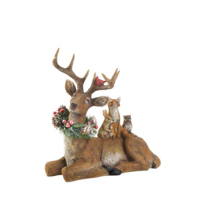 Sitting Woodland Reindeer Decor