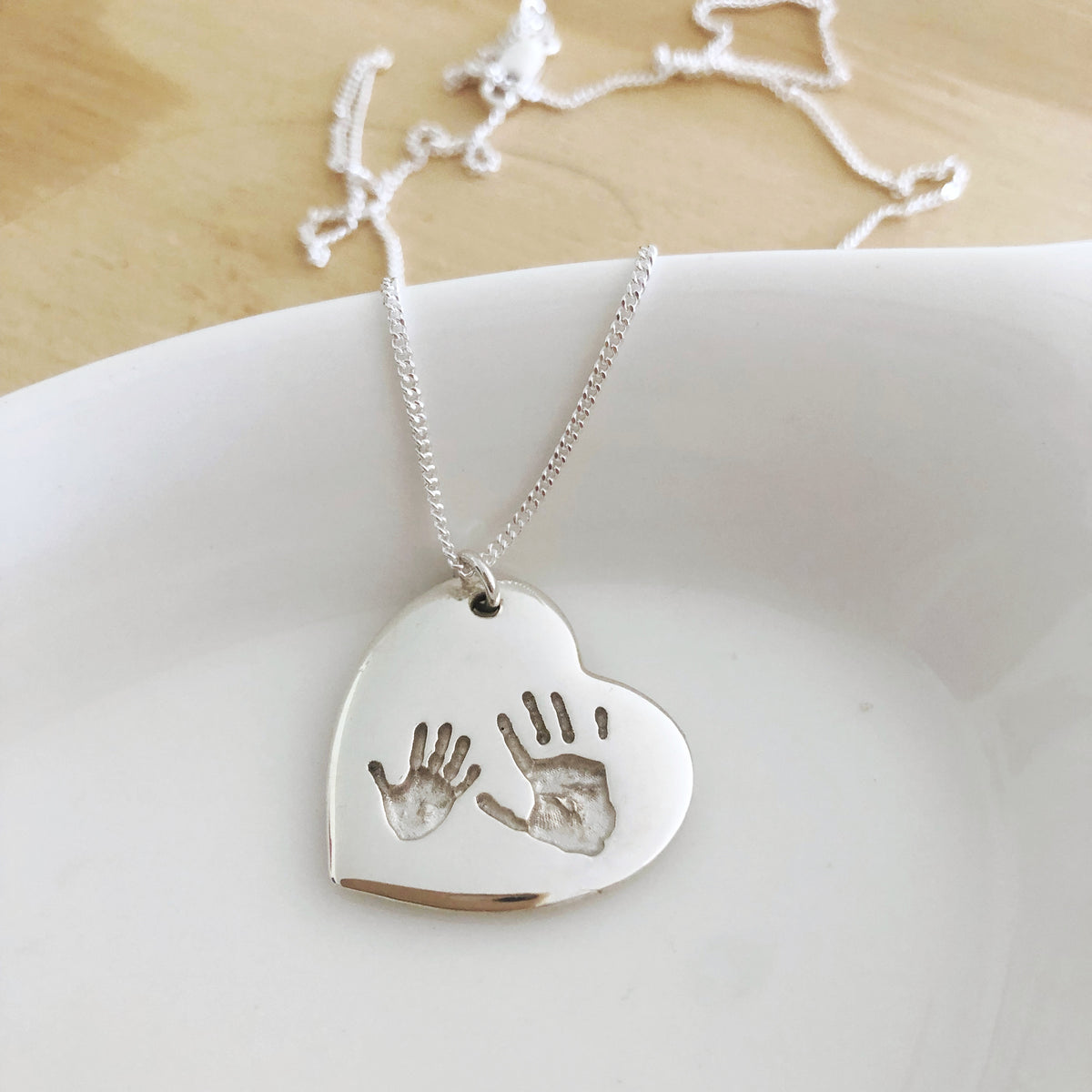 handprint pendant baby jewellery nz