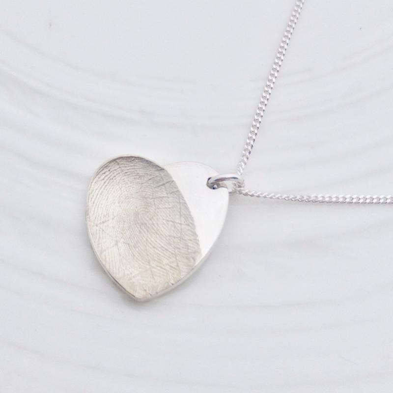 fingerprint bereavement jewellery loss sterling silver pendant
