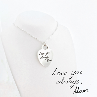 handwriting engraved pendant jewellery nz
