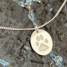 paw print pendant for pets pet loss