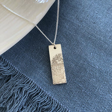 sterling silver bar necklace fingerprint jewellery nz