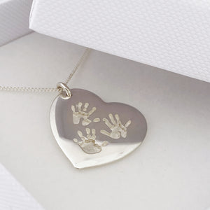 Handprint Pendants - Sterling Silver