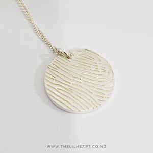Sterling silver modern fingerprint jewellery nz made and finished