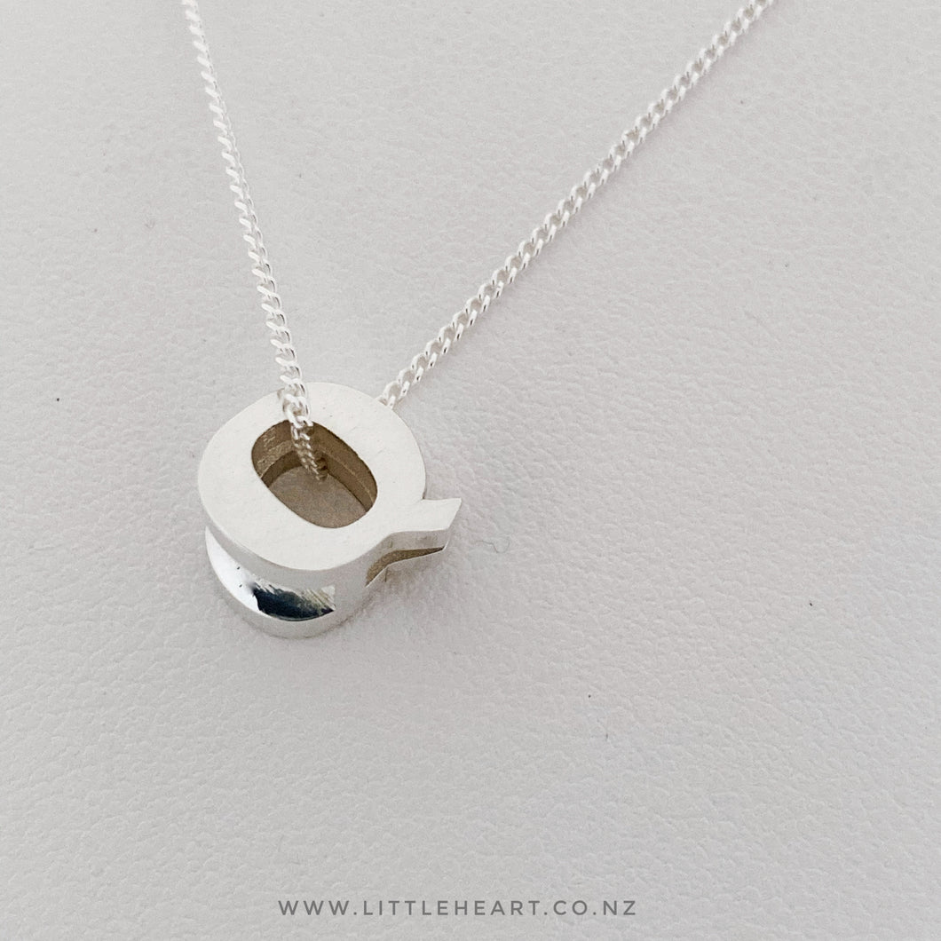 letter necklace family, nz made