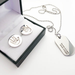 personalised jewellery for dad cufflinks