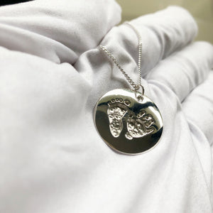 custom handprint footprint keepsake jewellery handcrafted nz