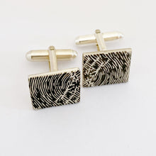 nz made personalised fingerprint cufflinks for weddings