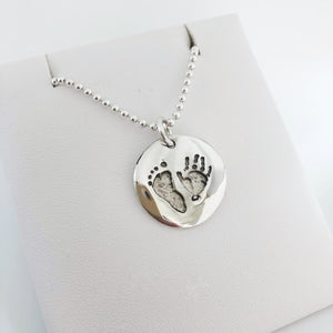 personalised custom handprint keepsake jewellery nz