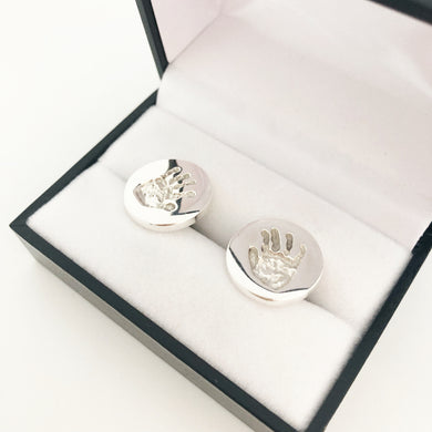 handprint cufflinks nz made