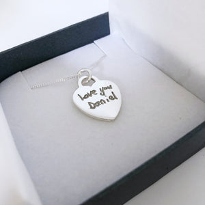 handwriting remembrance jewellery nz
