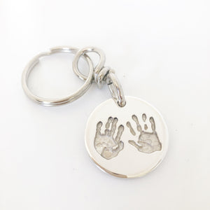 handprint keyring for dads