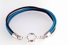 Multi stand leather bracelet for fingerprints made in New Zealand
