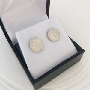 sterling silver fingerprint earrings