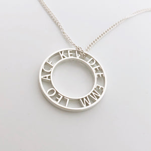 sterling silver personalised name necklace nz