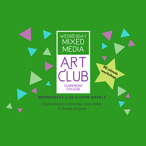 Term 1 :: 8 weeks :: Wednesday Yrs 4, 5&6 Art USING $100 VOUCHER