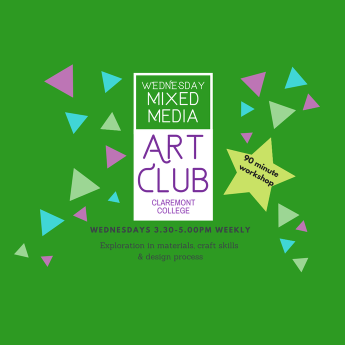 Term 1 :: 8 weeks :: Wednesday Experienced Mixed Media Art USING $100 VOUCHER