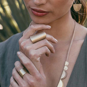 Tall Hammered Ring - Best Seller