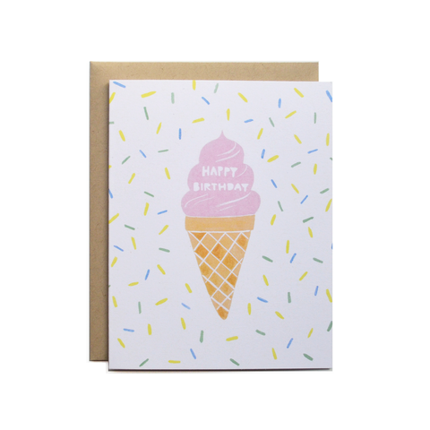 Birthday Cone Card