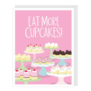 Eat More Cupcakes Card