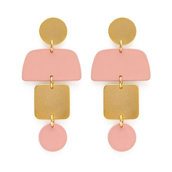Geometric Stack Earrings - Best Seller